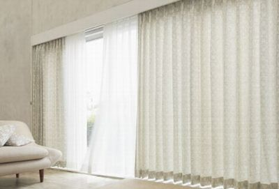 石岡市 オーダーカーテン 遮光 お花柄