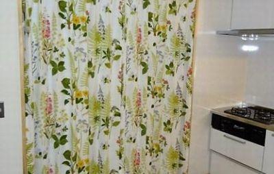 小松市 オーダーカーテン 遮光 お花柄