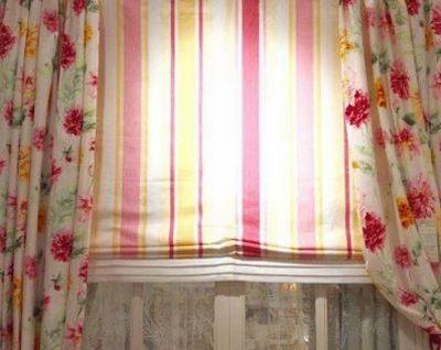 白井市 オーダーカーテン 遮光 お花柄