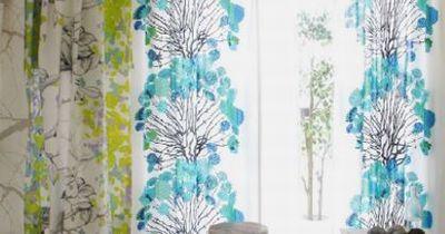 小浜市 オーダーカーテン 遮光 お花柄